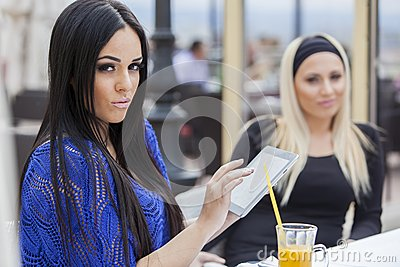 Girls with a tablet
