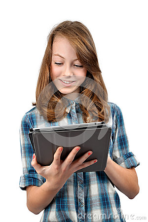 Girls with tablet