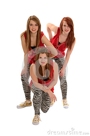 Girls Teenage Hip Hop Dance Trio