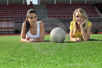 Girls after training