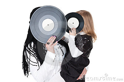 Girls with vinyl