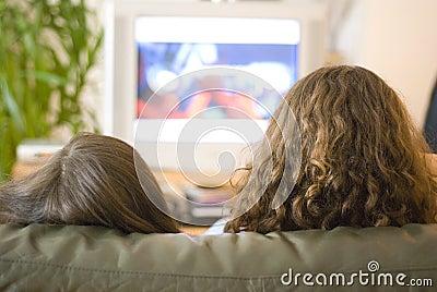 Girls watching tb