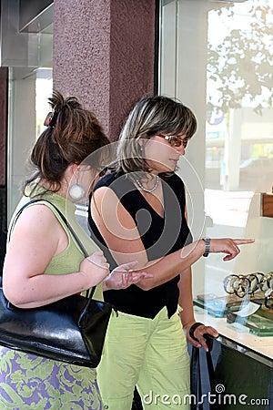 Free Girls Window Shopping Royalty Free Stock Photo - 239995