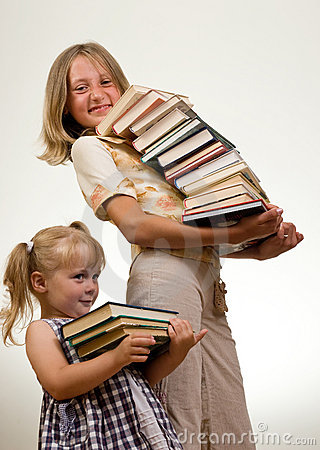 Free Girls With Books Royalty Free Stock Photos - 2907598