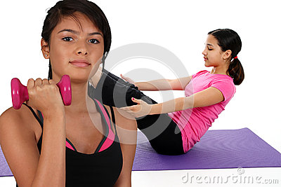 Girls Working Out