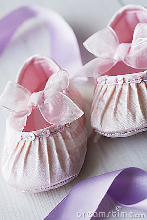 Girly baby shoes
