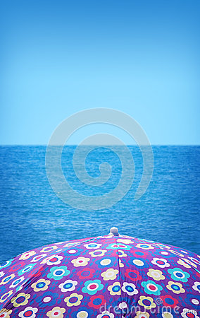 Girly beach umbrella