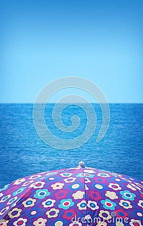 Girly beach umbrella