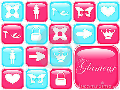 girly icons: