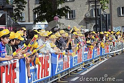 Giro d Italia 2009 - fans crowd Editorial Stock Photo
