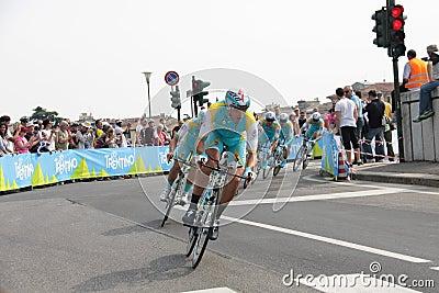 Giro d Italia - ASTANA team Editorial Image