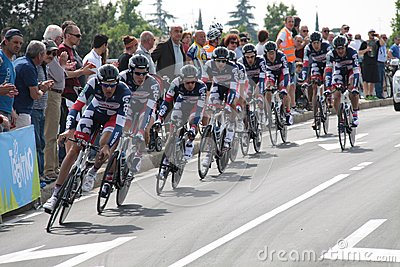 Giro d Italia - BELISOL LOTTO team Editorial Stock Image