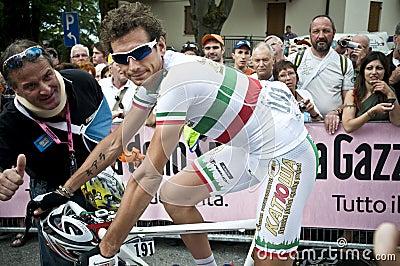 Giro d Italia: Filippo Pozzato Editorial Image