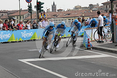 Giro d Italia - GARMIN BARRACUDA  team Editorial Stock Photo