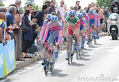 Giro d Italia - LAMPRE ISD team Editorial Image