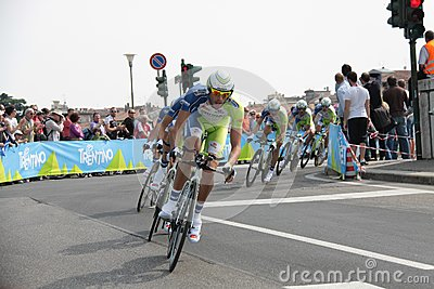 Giro d Italia - LIQUIGAS team Editorial Stock Photo