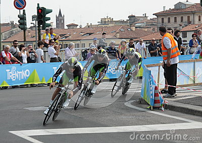 Giro d Italia - ORICA team Editorial Photo
