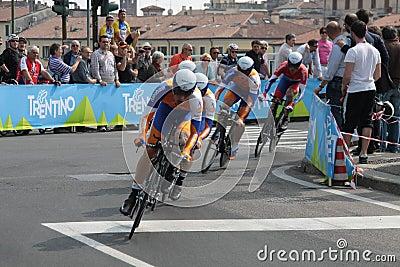 Giro d Italia - RADOBANK team Editorial Stock Image