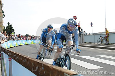 Giro d Italia - SAXO BANK team Editorial Stock Photo