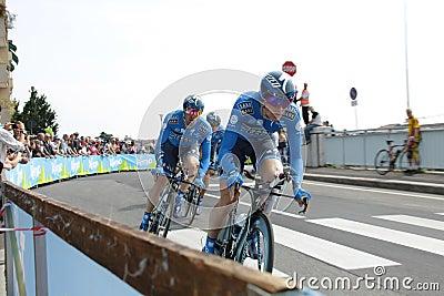 Giro d'Italia - SAXO BANK team Editorial Stock Photo