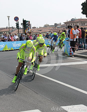 Giro d Italia - SELLE ITALIA FARNESE team Editorial Stock Photo