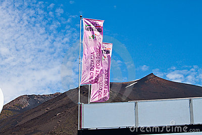 Giro d italia in the stage of Etna Editorial Photography