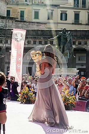 Giro d italia 2013 trofeo senza fine Editorial Stock Photo