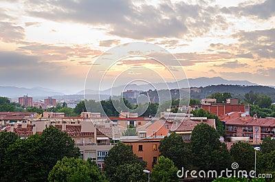 Girona city view