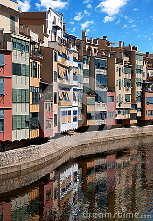Girona cityscape, Spain