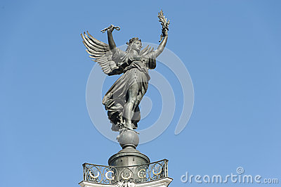 Girondins, statue of victory, Bordeaux, France