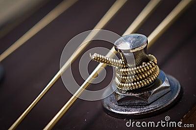Gitaar stemmende pin