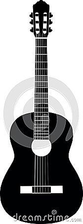 Gitara czarny biel