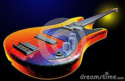 Gitara elektryczna gorąca