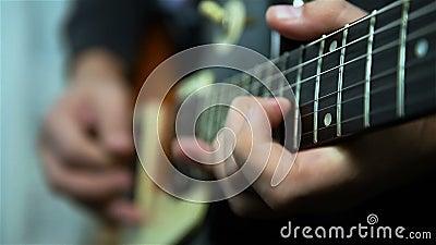 Gitarist Playing Solos stock videobeelden