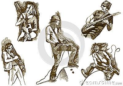 Gitaristen - tuimelschakelaars