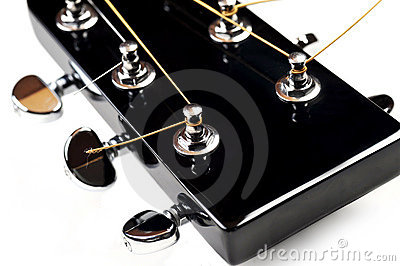 Gitary akustycznej headstock