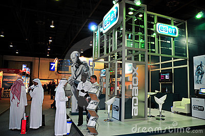 Gitex 2008 - ESET Pavilion Editorial Photography