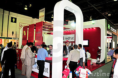 Gitex 2008 - RedHat pavilion Editorial Stock Image