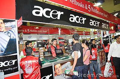 GITEX 2009 - Acer Sales Centre Editorial Photo