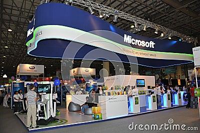 GITEX 2009 - Microsoft windows 7 Pavilion Editorial Photo