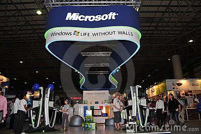 GITEX 2009 - Microsoft windows 7 Pavilion Editorial Image