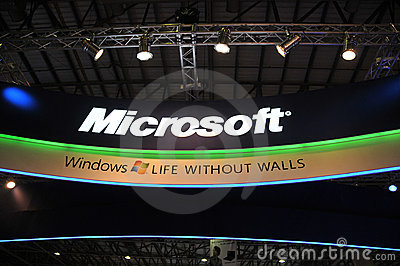 GITEX 2009 - Microsoft windows 7 Pavilion Editorial Photography