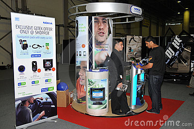 GITEX 2009 - Nokia info booth Editorial Photography