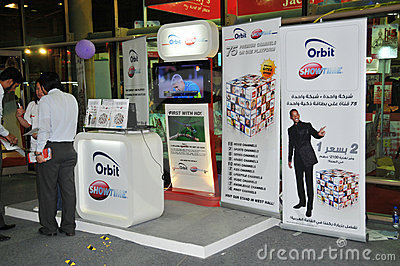 GITEX 2009 - Showtime TV Help Desk Editorial Image