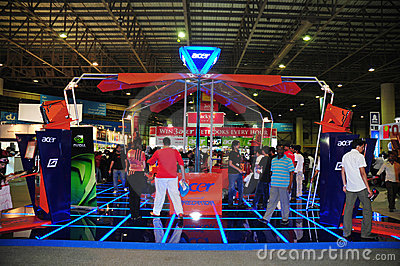 Gitex Shopper 2008 - Acer Gaming Corner Editorial Stock Photo