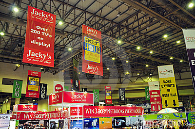 Gitex Shopper 2008 - Branding on banners Editorial Stock Photo