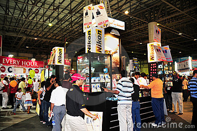 Gitex Shopper 2008 - Nikon Editorial Stock Image