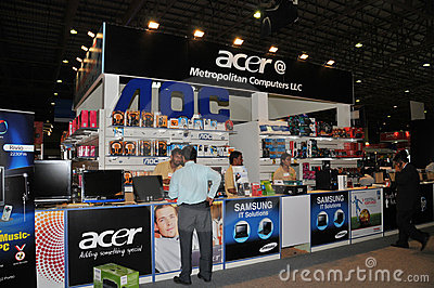 GITEX shopper 2009 - Acer & Samsung Dealer Editorial Stock Image
