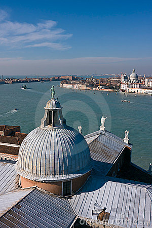 Giudecca canal and Santa Maria church in Venice