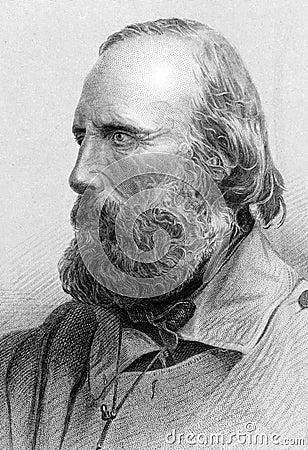 Giuseppe Garibaldi Editorial Stock Image